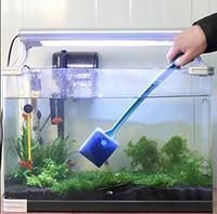 aquarium magnet cleaner - Aquarium Screen Clean Cleaner Magnet Brush Sponge Set Scraper Long Handle Non Slip Griped Handle Improving Cleaning Action