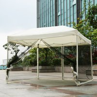 gazebo steel gazebo - IKAYAA M Folding Outdoor Garden Canopy Gazebo Pop Up Party Wedding Camping Tent Marquee Pavilion with Removable Sidewall H16870