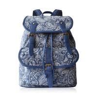 backpack for teens - Vintage Porcelain Canvas Drawstring Backpack Travel Sport Printing Fashion Bags Daypack Rucksack for Women Men Girl Boy Student Teen