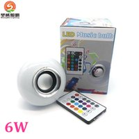 audio suit - 2016 Hot Seller Smart Speaker Wireless Bluetooth Remote Control LED RGB Color Bulbs Lights Lamps E27 Music Audio Speaker Suit for iphone