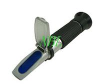 Wholesale Sets EMS HandHeld Brix Refractometer For Sugar Beer Brix Test Optical Brix ATC Refractometer Meter With Retail Box