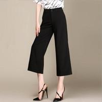 best nylon legs - Ninth points empire waist elastic pants for women wide legged pants plus size female best match women s summer pants loose style