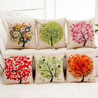 Wholesale Creative cm romantic fantastic Tree of Life lying pillow cushoins seat cover decorative Pillow Case Covers bed linings