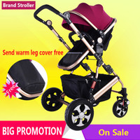Wholesale Winter big stroller four wheel light baby stroller baby carriage months baby use