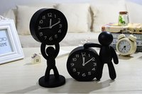 bedside buddy - Creative Pure Color Cartoon Buddy Desk Table Plastic Digital Alarm Clock Student Bedside Accessories