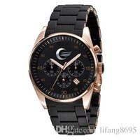 Cheap TOP QUALITY BEST PRICE   New Mens Black and Gold Chronograph Watch AR5905 CHRONOGRAPH WRIST WATCH