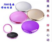 mirror charger plates - Power Bank Portable mAh plate PowerBank with cosmetic mirror case External Backup Battery Charger Emergency Power Pack Chargers for all