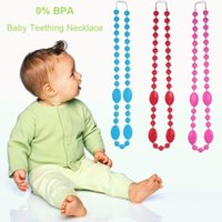 Wholesale Silicone Breastfeeding Nursing Necklace Chew Teething Beads for Mom Scarlett Silicone necklace for baby teething