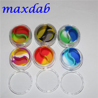 Wholesale ml acrylic wax containers silicone jar dab wax containers silicone dab jar glass oil containers