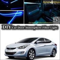 avante lighting - interior Ambient Light Tuning Atmosphere Fiber Optic Band Lights For Hyundai Avante Inokom Elantra GT i35 Car Door Panel illumination Refit
