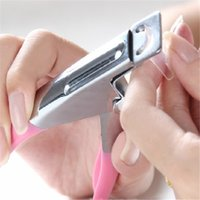 acrylic nail cutters - 100pcs Way Acrylic False Nail Tip Clipper Cutter Edge Cutter Tips Pink Nail Clippers Trimmers