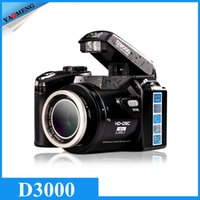 Wholesale DHL PROTAX D3000 MP HD Half DSLR Professional Digital Cameras with x Telephoto Wide Angle Lens Cameras Macro HD Cameras