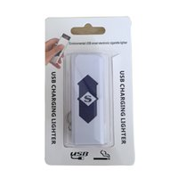 batteries key rings - Colorful USB Charging Lighter Electronic Cigarette Lighters For Cigarette Wind Proof Rechargeable Battery With Key Ring