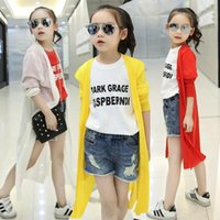 air condition brand - Summer Girls Shirt Leisure Shirt Long Trend Of Air Conditioning Solid Sun protective Clothing White Red Yellow Colors