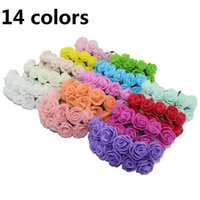 Wholesale 15 off cm Single Head Multicolor PE Rose Foam Flower Bouquet Scrapbooking Artificial Rose DIY Flower The bride bouquet
