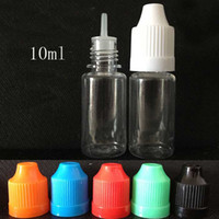 Wholesale 10ML PET plastic dropper oil bottles With Childproof Cap Safe Tips LDPE For E Cig Vapor Vape Liquid Needle Dropper Empty Bottle