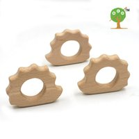 baby hedgehogs - 20pcs x mm DIY Organic beech hedgehog Ring teether nursing toy smooth inch DIY fitting Handcrafted baby gift EA49