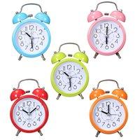 best bedside clock - Portable Fashion Classic Silent Double Bell Alarm Clock Quartz Movement Bedside Night Light Best Quality