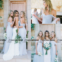 amsale gowns - Amsale Gorgeous Draped Sky Blue Off shoulder Beach Boho Long Bridesmaid Dresses jenny yoo cheap maid of honor junior bridesmaid gowns