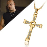 Wholesale Mens cm chains k Golden Cross pendant necklaces Colar de Ouro snake n705 For Holiday Gift