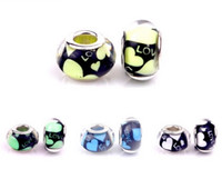 Wholesale Colors DIY Resin Beads Fit Pandora Charms Bracelets Necklaces European Beads Jewelry Loose Beads