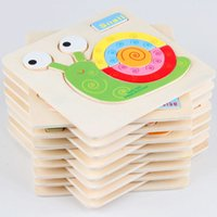 Wholesale Kids Animals Puzzle Wooden Educational Toys Games For Children Gifts patterns ute puzzles toy X4