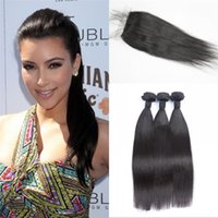 asian hair weave - Silk base closure with weaves Asian virgin hair straight natural color human hair with closure fast shipping