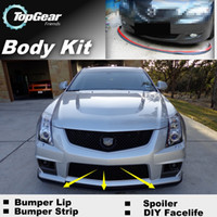 Wholesale Front Skirt Deflector Spoiler For Car Tuning The Stig Recommend Body Kit Strip Bumper Lip Lips For Cadillac CTS CTS V