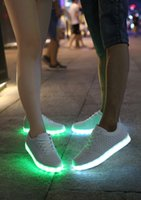 amazon slip - Amazon casual shoes stock shoes trade LED Colorful LED fluorescent couple shoes USB flash charging Bullock wind luminous shoe