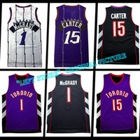Wholesale Retro Vince Carter Kid Adult Tracy McGrady cheap Throwback Basketball Embroidery Logo High quality