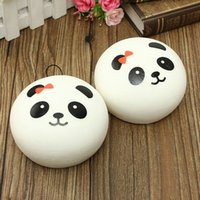 Wholesale New Arrival Beautiful Design Cute cm Squishy Charms Buns Cell Phone Charm Kawaii Jumbo Panda Bag Strap Pendant