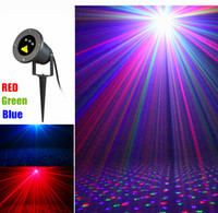 Wholesale LED laser lights Red Green Blue colors Firefly christmas laser light projector for garden AC V with adapter remote controller