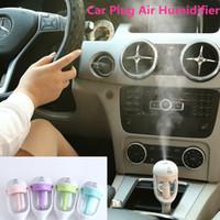Wholesale 2016 Nanum Car Plug Air Humidifier Purifier Vehicular essential oil ultrasonic humidifier Aroma mist car fragrance Diffuser DHL
