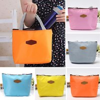 aluminum tote boxes - Hot Insulated Tinfoil Aluminum Cooler Thermal Picnic Lunch Bag Waterproof Travel Tote Box Fashion Candy Colors