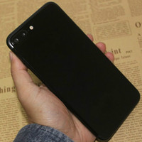 Wholesale Jet Black Instock Fingerprint Goophone i7 Plus Android Quad Core MTK6580 GB RAM Show GB quot HD MP G WCDMA Metal Phone