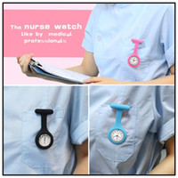Wholesale Silicone Nurse Brooch Tunic Fob Watch Nursing Nurses Pendant Pocket Watch Fob Watches Medical Nurse Watch