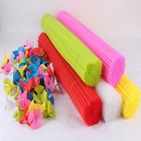 b balloon - 100 sets balloons sticks and cups sticks length cm Balloon brace many colors mix send factory price B