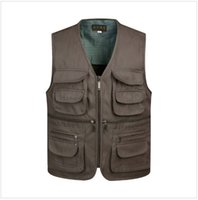 Wholesale Fall Man Casual Suit Vests New Brand Fashion Black With Many Pockets Waistcoat Men Fashion Sleeveless Vest Chaleco Vaquero