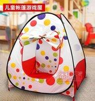 Wholesale Children Kids Play Tents Outdoor Garden Folding Portable Toy Tent Indoor Outdoor Pop Up Multicolor Independent intererting tents