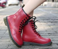 american to british - Autumn And Winter New Leather Martin Boots British Winter Boots European And American Women Boots Cattle Tendons Influx Of Shoes
