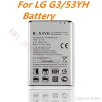 Wholesale For LG G3 battery BL YH mAh Standar Replacement Battery For F400 F460 D858 D830 VS985 D850 D851 not original Battery With Retail Pack