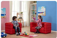 Wholesale Children s sofa Small sofa Single Double Plaid sofas