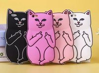 bad covers - hot sale cell phone case Creative designer cute bad cat d cartoon silicone cover case for iphone plus