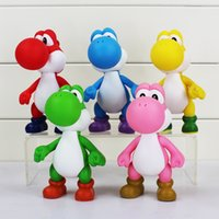 Wholesale 5 Colors cm Super Mario Hand Movable Yoshi PVC Figure Doll Toys Kid Present