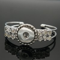 beauty metal plates - New Fashion SG0211 Beauty Rhinestone Charming metal ginger snap bangle fit MM ginger snap buttons