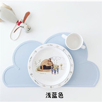 Wholesale Clouds silicone placemats contracted plates baby chuck table mat Placemat Table Mat Dining Mat irregularly shaped place mat
