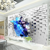 archers game - Custom League of Legends Wallpaper D Game photo wallpaper Boys Bedroom Living room Bar TV Backdrop D Bricks wallpaper Ashe Frost Archer