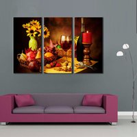 ba combinations - LK3125 Panel Fruits Sunflower Grape Wine Nuts Food Still Life Oil Painting Wall Art High Giclle Wall Picture Print On Canvas For Home Ba