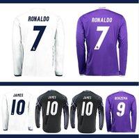Wholesale Mixed buy Whosales Madrid Jersey Soccer Jerseys Uniform Real Cristiano Ronaldo Bale James Soccer Jersey1617 Full Long sleeve Neymar JR