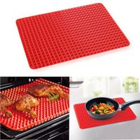 Wholesale 2016 new Red Pyramid Bakeware Pan Nonstick Silicone Baking Mats Pads Moulds Cooking Mat Oven Baking Tray Sheet Kitchen Tools
